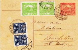 Tchecoslovaquie ,  Entier Avec, Complèment  Et Taxe à L'arrivèe En 1920TB - Tschechoslowakei/CSSR