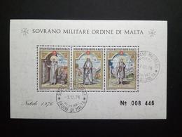 MALTESER ORDEN BLOCK GESTEMPELT WEIHNACHTEN 1976 - Malta (Orden Von)