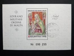 MALTESER ORDEN BLOCK GESTEMPELT WEIHNACHTEN 1977 - Malta (Orden Von)