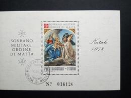 MALTESER ORDEN BLOCK GESTEMPELT WEIHNACHTEN 1978 - Malta (Orden Von)