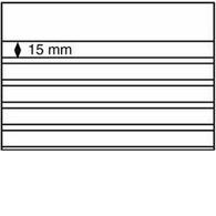 Einsteckkarten Standard PS,210x148 Mm,5 Klare Streifen Mit Deckblatt,schw.Karton,50er-Pack - Classificatori