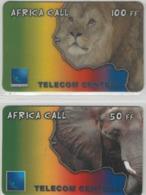 Lot De 2 Cartes Prépayées Différentes - AFRICA CALL  -  Prépaid  - (valeur Et/ou Verso  Différent) - Andere Voorafbetaalde Kaarten