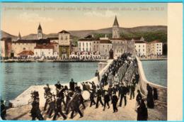 TROGIR - Dobrovoljno Vatrogasno Druztvo Od Hrvat. Glazbe Poslije Obhoda Sv. Ivana 21.11.1907. ( Croatia ) * Travelled RR - Croatia