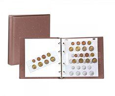 Lindner 1105-H Karat - Coin Album EURO, Tan - Supplies And Equipment