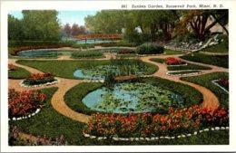 North Dakota Minot Roosevelt Park Sunken Garden Curteich - Minot