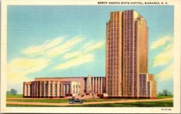 North Dakota Bismarck State Capitol Building Curteich - Bismark