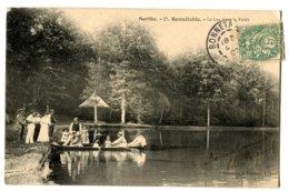 CPA 72 BONNETABLE Lac Dans La Foret ( Barque - Animation) 1907 - Bonnetable