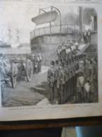 Funérailles De S A Le Prince Impérial , Débarquement Du Cercueil A Woolwich , Gravure De Trichon 1879 - Documents Historiques