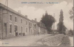 CRESSY SUR SOMME - RUE PRINCIPALE - France