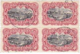 Belg.Kongo-Congo Belge (g) Nr 55 Blok Van 4 Zegels - Bloc 4 Timbres -  Gestempeld-obliteré-used - Congo Belga