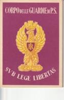 Tematica - Mestieri - Polizia Di Stato - Corpo Delle Guardie Di P.S. - - Polizia – Gendarmeria