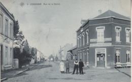 Jodoigne - Rue De La Station - Animé - Café Hôtel Restaurant - 1908 - SBP 9 - Jodoigne