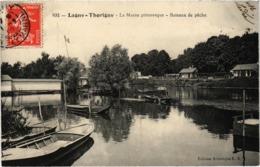 Lagny Thorigny La Marne Pittoresque Bateaux De Pêche Très Très Rare Postée En 1909 - Lagny Sur Marne