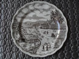 Assiette Céramique Décorative Paysage Campagne Ferme  25 Cm - Ceramica & Terraglie