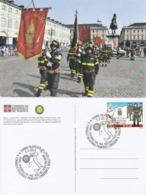 Tematica - Mestieri - Pompieri - Torino - Consegna Del Sigillo 2012 Ai Vigili Del Fuoco Volontari - - Pompieri