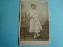 Guyane - Cayenne - Photo Cartonnée 11cm X 16cm - Une Jeune Fille - Cayenne