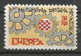 HR 1967 EUROPA CEPT, CROATIA HRVATSKA- EMISSONE IN EXILIO, 1 X 1v, MNH - Croatia