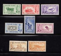 FALKLAND  ISLANDS    1952    Various  Designs    Part  Set  Of  8    MH - Falkland Islands