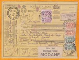 1926 - Bolletino Pacchi - Carte Expédition De Colis D'Alessandria, Italie Vers Bourg De Péage, Drôme, France - 1900-44 Victor Emmanuel III