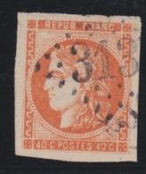 FRANCE - CLASSIQUES : N° 48.  Cote 130€. Légère Fente Nord. - 1870 Bordeaux Printing