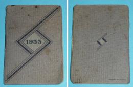 Calendrier, Almanach, Agenda 1933, Hémoglobine Sirop DESCHIENS - Petit Format : 1921-40
