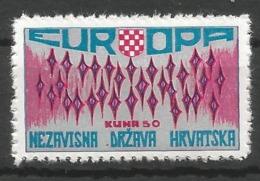 HR 1972 EUROPA CEPT, CROATIA HRVATSKA- EMISSONE IN EXILIO, 1 X 1v, MNH - Croatia