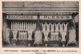 SAINT NAZAIRE ( 44 ) - Devanture De La Boucherie PLESSIS . - Saint Nazaire