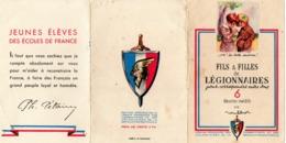 Legion Francaise Des Combattants Et Volontaires -pochette Avec Un Seul Dessin Poulbot - Patriotiques