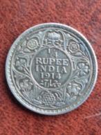 INDE BRITANNIQUE : SUPERBE 1/4 RUPEE ARGENT 1914 - GEO V - Colonias