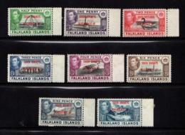 FALKLAND  ISLANDS  SOUTH  ORKNEYS    1944    Various  Designs  Set  Of  8   MNH - Falkland Islands