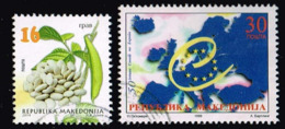Nordmazedonien 1999/2014,Michel# 704 + 161  O Beans/ 50 Years Of Council Of Europe - Macedonia