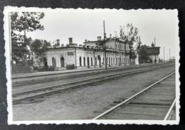OSTROV (Остров), Pskov, Pleskau Ca 1941, Railway Station, Bahnhof, La Gare - Guerre, Militaire
