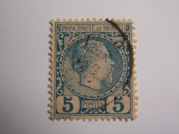 TIMBRE MONACO  1883 / CHARLES  III  -  BLEU  - Oblitéré  --  Tb - Monaco