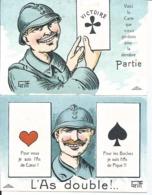 LOT  2 CPA GRIFF - L'AS DOUBLE - SOLDATS 14/18 - Griff