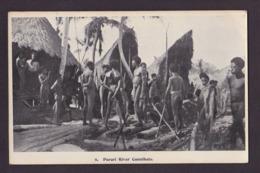 CPA Nouvelle Guinée Papouasie Océanie Cannibale Cannibals Ethnic écrite - Papua New Guinea