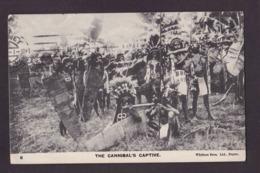 CPA Nouvelle Guinée Papouasie Océanie Cannibale Cannibals Ethnic Circulé - Papua New Guinea