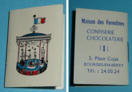 Petit Calendrier, Almanach 1974, Publicitaire, Pub Chocolat Confiserie-chocolaterie Maison Des Forestines à Bourges 18 - Petit Format : 1971-80