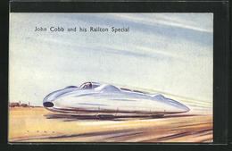 AK John Cobb And His Railton Special, Autorennen - Sport Automobile