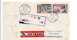 PREMIER LIAISON AIR FRANCE EXTREME ORIENT BOEING 707 ARRIVEE TEHERAN - Air Post