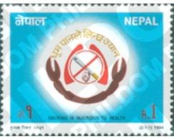 Ref. 305983 * MNH * - NEPAL. 1994. CAMPAIGN AGAINST TOBACCO . CAMPAÑA CONTRA EL TABACO - Nepal