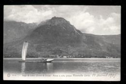 LAGO DI COMO - RAMO DI LECCO - BARCA A VELA PRESSO MANDELLO DEL LARIO 1907 - Lecco