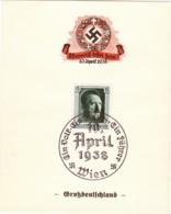 """III. Reich, Propagandakarte """" Ein Volk - Ein Reich - Ein Führer  """" - Weltkrieg 1939-45"""