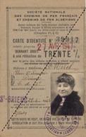 Chemins De Fer Français Et Algériens Carte D'identité Pour Réduction De Saint Mirel à Dinan Bretagne - Ferrocarril