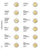 Lindner MU2E22 Multi Collect Vordruckblatt Für 2 Euro-Gedenkmünzen: Frankreich 2018 - Belgien 2019 - Supplies And Equipment