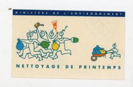 AUTOCOLLANT : NETTOYAGE DE PRINTEMPS - MINISTÈRE DE L'ENVIRONEMENT (6X10 CM) - Adesivi