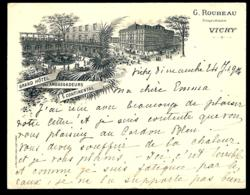 VICHY GRAND HOTEL DES AMBASSADEURS CONTINENTAL M. ROUBEAU PROPRIETAIRE / 1900 / - Vichy