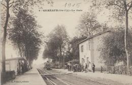 21, Cote D'Or, GEMEAUX, La Gare, Scan Recto-Verso - Frankreich