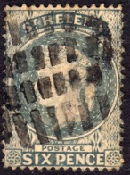 St Helena 1880 6d Milky Blue SG29 - Used (fault) - Saint Helena Island