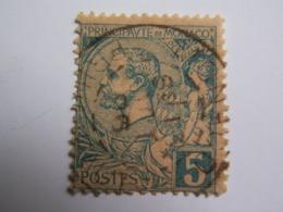 TP MONACO  1891 /  PRINCE  ALBERT  I è  //  5 C.bleu - Oblitéré - Monaco