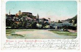 ELBOGEN M. Nuer Eisenbahn-Brücke - Sudetenland - Karlovy Vary - Karlsbad - Gesendet 1903 - Sudeten